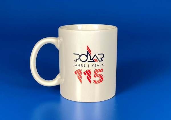 Tasse mit 115 Jahre POLAR Logo